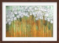 Framed Sugar Cube Blossoms