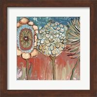 Framed Three Flowers