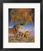 Framed Masai Morning