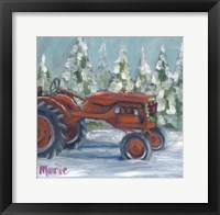 Framed Tractor 4 Seasons Allis Chalmers Holiday
