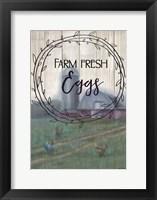 Framed Farm Fresh Eggs Circle
