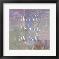 Framed Damask Faith I