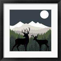 Framed Deer Path Moon