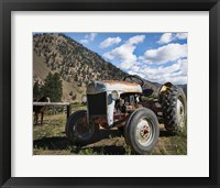 Framed Ford Tractor