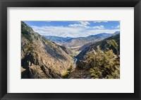 Framed Idaho River Valley