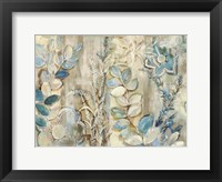 Framed Aqua Leaves