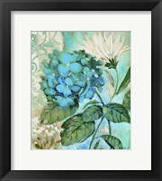 Framed Blue Hortensia