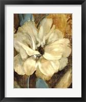 Framed Cream Flower 1