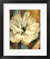Framed Cream Flower 1