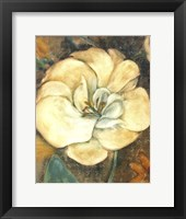 Framed Cream Flower 2