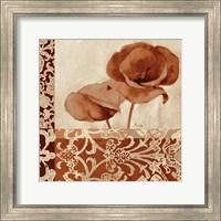 Framed Portret Of Poppies