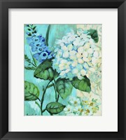 Framed White Hortensia