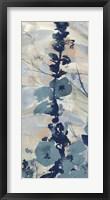 Framed Blue Floral I