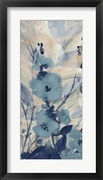 Framed Blue Floral II