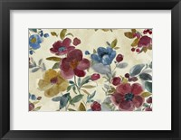 Framed Marsala Flowers