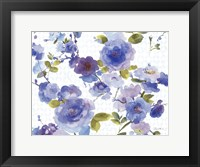 Framed Rose Dust Blue