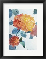 Framed Watercolor Hortensia 2