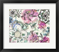 Framed Graphic Flowers