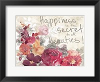 Framed Happiness Is The Secret
