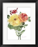 Framed Roses Bogonvilia 1