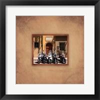 Tuscan Bikes Framed Print