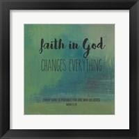 Framed Faith in God