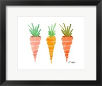 Framed Three Carrots