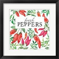 Framed Fresh Peppers