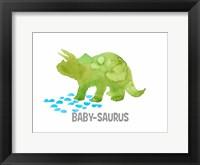 Framed Babysaurus Triceratops