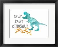 Framed Rawr Rawr Dinosaur