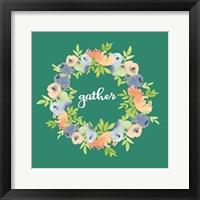 Framed Gather Green Floral