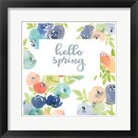 Framed Hello Spring Florals