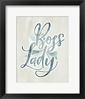Framed Boss Lady Floral