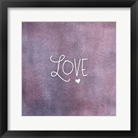 Framed Love Purple
