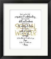 Framed Social Worker Prayer