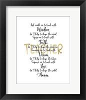 Framed Teacher Prayer