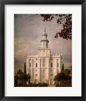 Framed LDS St. George Temple