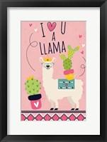 Framed I Love You a Llama
