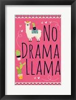 Framed No Drama Llama