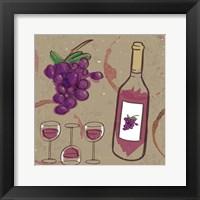 Framed Peace, Love, Wine III