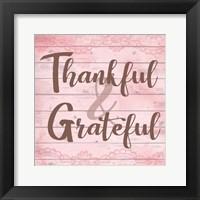 Framed Thankful & Grateful