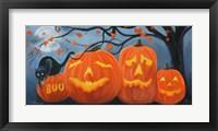 Framed Halloween Pumpkins