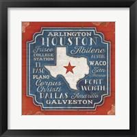 Framed Godbless Texas