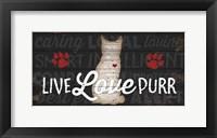 Framed Live Love Purr