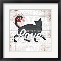 Framed All You Need is Love - Cat