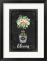 Framed Floral Topiary III