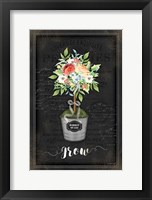 Framed Floral Topiary IV