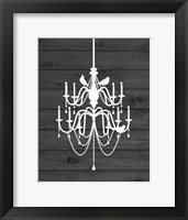 Framed Chandelier Bird I