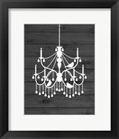 Framed Chandelier Bird II