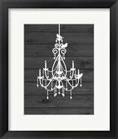 Framed Chandelier Bird III
